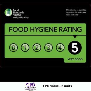"<p style=""color:#FFFFFF"";>Food Hygiene Level 5 Award</p>"